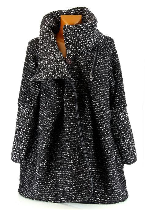 manteau boule cape bouillie zip noir hiver violetta