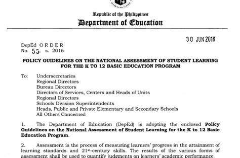 Policy Guidelines On The National