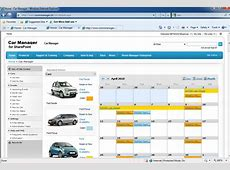 Car Manager for SharePoint lets you easily book a car from