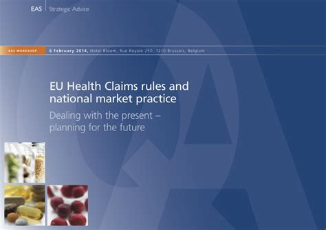 EU Health Claims rules and national market practice