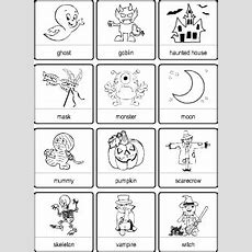Halloween Vocabulary For Kids Learning English  Picture Dictionary