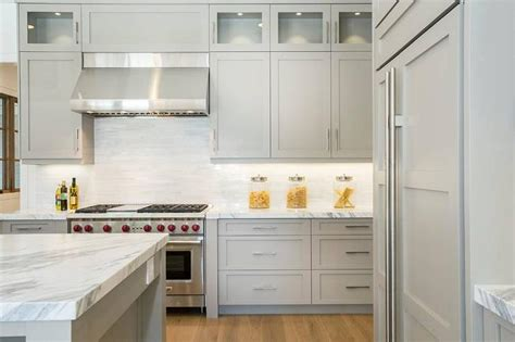 Stainless Steel Canisters Kitchen Light Gray Cabinets Contemporary Kitchen Markay Johnson Construction
