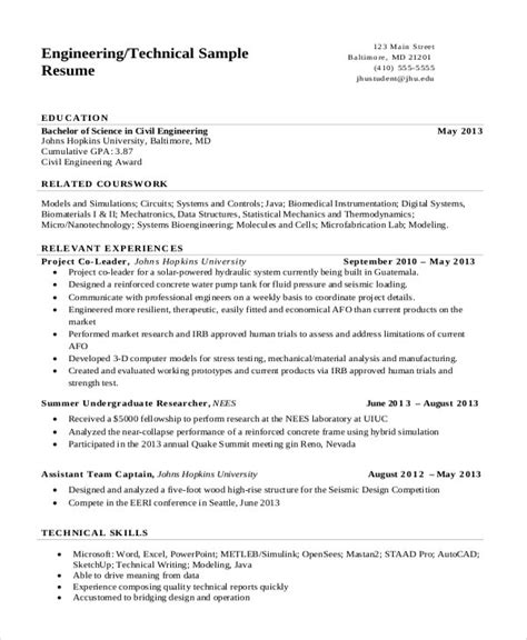 A resume for a scholarship is a document focusing on your education and academic achievements. 17+ Engineering Resume Templates - PDF, DOC | Free & Premium Templates