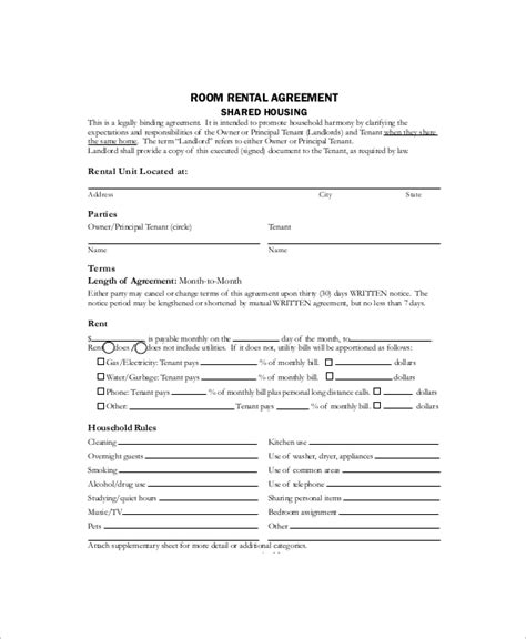 sample house rental contracts  ms word