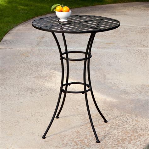 wrought iron pub table woodard capri wrought iron bar height bistro table patio