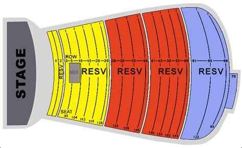 red rocks seating chart seat numbers: Red rocks seating chart interactive