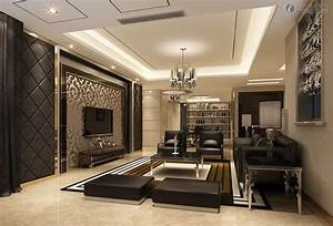 Beautiful living room with tv in lcd