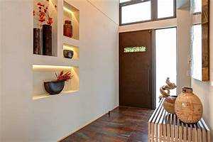 Decorating wall niche ideas entry contemporary with entry