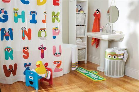 Abc Shower Curtain ($59), Sesame Street Sign Bath Mat ($29