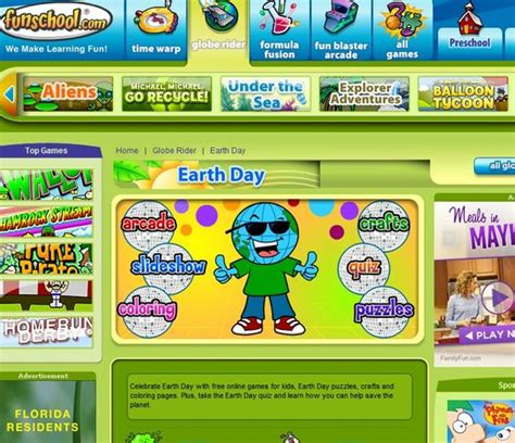Online Games For Kids, Puzzle Crafts And Earth Day On