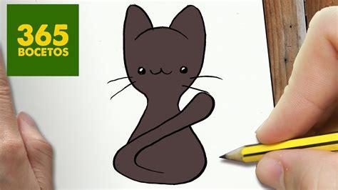 como dibujar gatito kawaii paso a paso dibujos kawaii