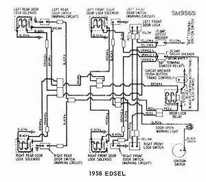 Door Locks Wiring Diagram Of 1958 Ford Edsel  60850
