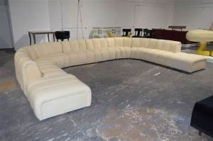 wonderful large sectional sofa in the manner of desede at With sectional couch with huge ottoman