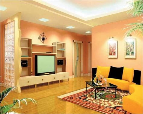 peach colour on sitting room wall burnt orange living