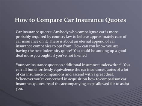 compare car insurance quotes powerpoint