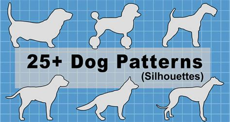 dog patterns stencils  silhouettes  jpg png svg
