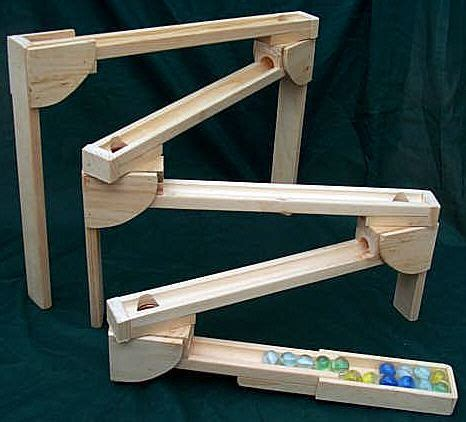 wooden marble roller subway amish  roller coaster