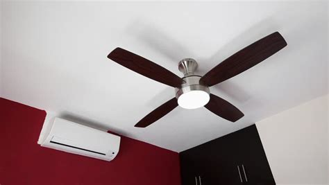 Stock Video Clip Of Electric Ceiling Fan And Wall Split