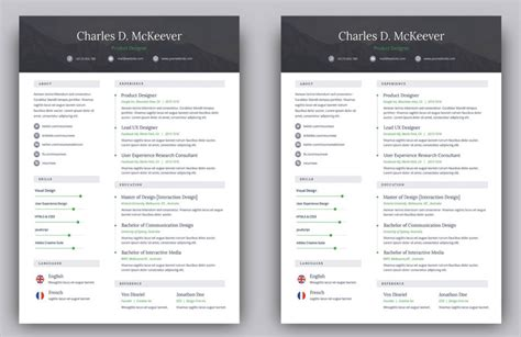 Free Resume Site free modern resume template 2019 resume template free