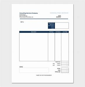 consultant invoice template for word excel pdf With consulting hours invoice template