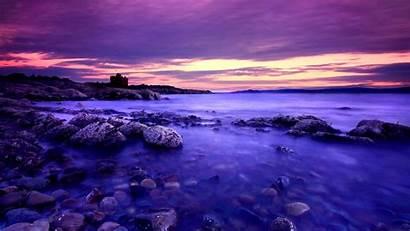 Purple Sunset Beach Allwallpaper