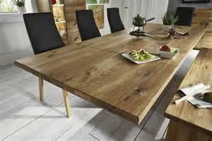 wohnzimmer massivholz massivholz esstisch erweiterbar wildeiche massiv natur geölt binz 200x100cm tisch eiche