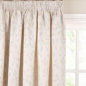 John lewis leaf trail pencil pleat curtains stone for Pencil pleat curtains on track