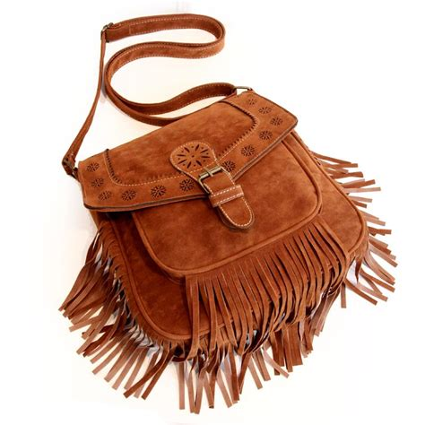 autumn  winter women faux suede fringe bag tassel