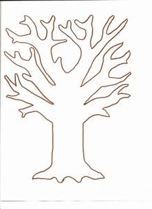 tree template for fingerprint and tissue paper tree http With preschool family tree template