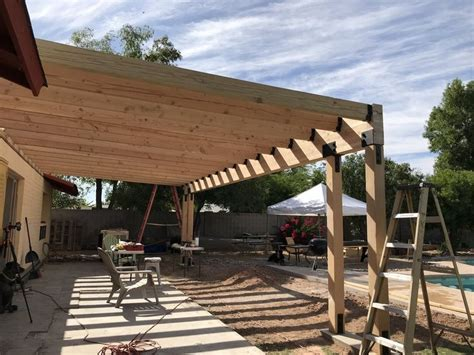 building  covered patio   ft span  awesome orange covered patio design backyard