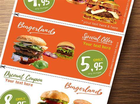 flyer   detachable discount coupons  graphicques