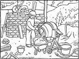 Building Site Colouring Kiddicolour Thema Kleurprenten Receiver Mail sketch template