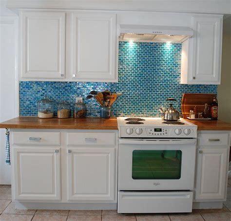 Kitchen Backsplash Turquoise by Kitchen Turquoise Backsplash Butcher Block Counters
