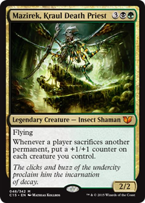 mtg insect deck 2015 mazirek kraul priest from commander 2015 spoiler