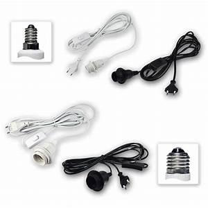 E14 Fassung Mit Kabel : netzkabel mit fassung e14 e27 mit schalter wei schwarz ~ Buech-reservation.com Haus und Dekorationen