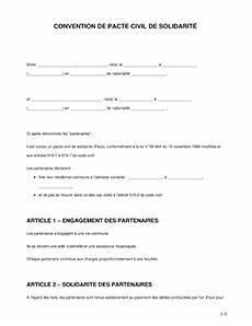Documents Pour Compromis De Vente : convention de pacs mod le word pdf t l charger ~ Gottalentnigeria.com Avis de Voitures