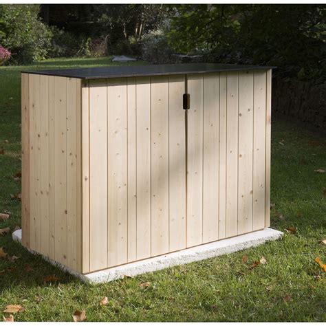 armoire de jardin bois vertigo naturelle l 120 x h 91 x p