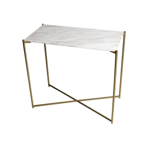 small console table ls buy marble small console table with brass cross base at