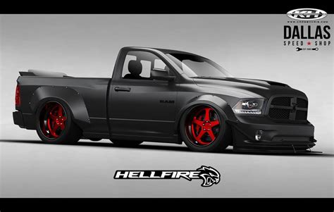 Ram 1500 + Hellcat V8 Engine = 775 Hp Hellfire Sema Truck