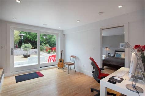 garage master suite modern bedroom san francisco  bmf construction