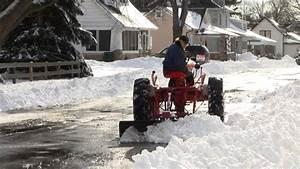 1952 Allis Chalmers Ca Plowing Snow