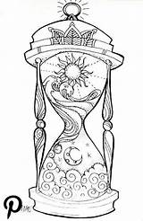 Hourglass Coloring Night Adult Drawings Drawing Draw Adults Printable sketch template