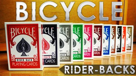 the deck company the mini collection deck review bicycle rider back by the us card