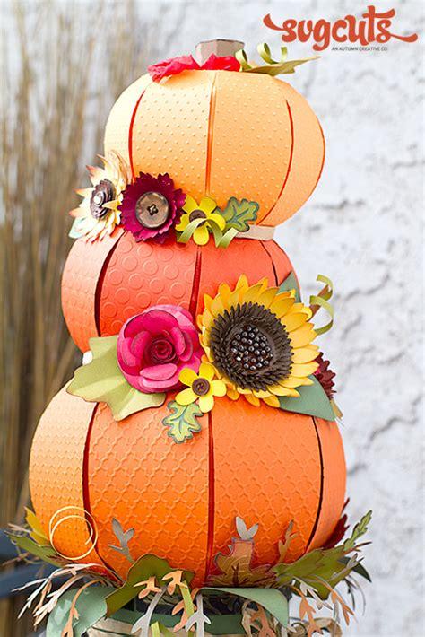 fallin pumpkins centerpiece  ilda dias svgcutscom blog