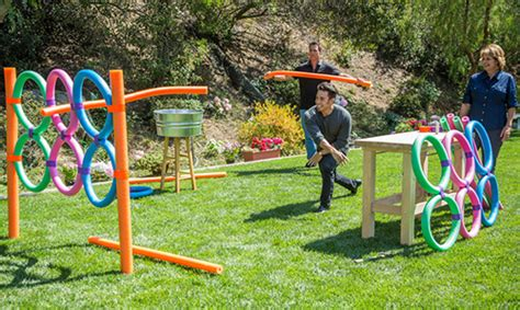 How To Throw A Summer Backyard by S Diy Pool Noodle Javalin Toss Hallmark Channel
