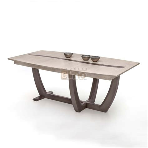 cuisine ch麩e massif table de cuisine pied central maison design bahbe com