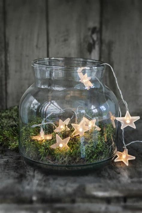 Lichterkette In Vase by 1001 Ideen F 252 R Deko Mit Moos Zum Erstaunen Und Bewundern
