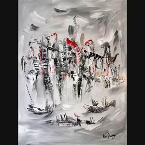 Grand Tableau Blanc : grand tableau noir et blanc tableau fleur magnolia noir ~ Teatrodelosmanantiales.com Idées de Décoration