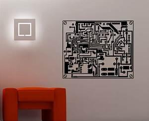 PRINTED CIRCUIT BOARD wall art sticker vinyl KITCHEN
