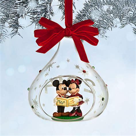 disney 2014 mickey minnie mouse sketchbook glass christmas